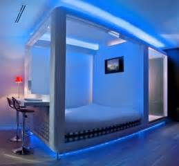 Led Lights In Bedroom Bedroom Decorating Ideas With Led Lighting Futuristic Bedroom