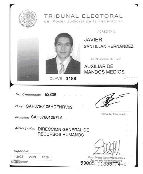 formato para credenciales de trabajo dof diario oficial de la federaci 243 n