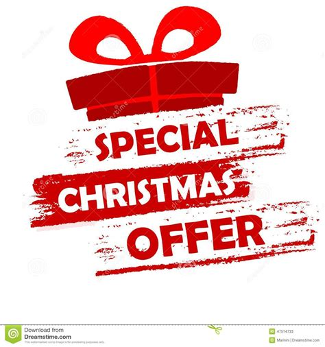 special christmas offer stock illustration image of gift