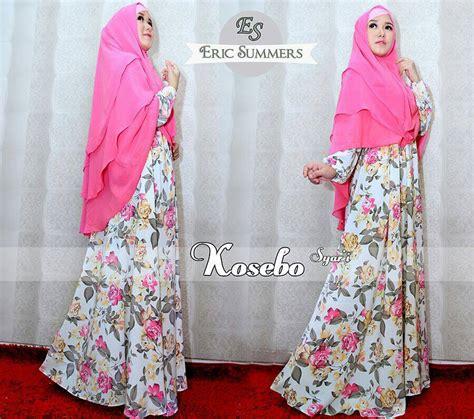 Terlaris Gamis Syari Vina Lavender Ungu Baju Gamis Pesta Mode Baju M kosebo pink baju muslim gamis modern