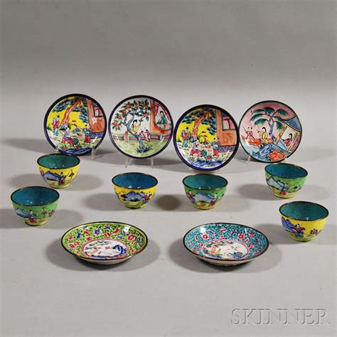 Sale Blue Band Cup 250 Gr six canton enamel cups and saucers sale number 2872t