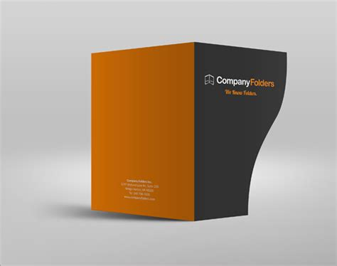 Free Psd Serpentine Business Folder Mockup Template On Presentation Folder Psd