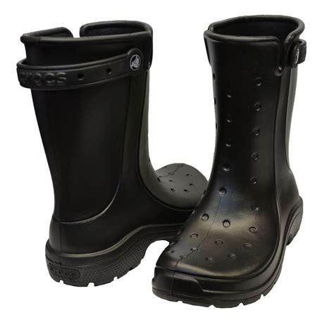 crocs boots crocs crocs reny ii black n59 16010 wellie mens