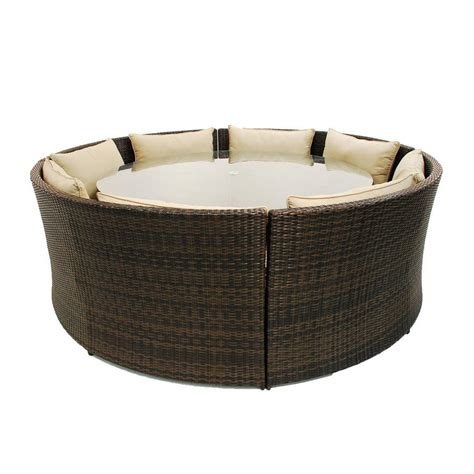 round sofa set rattan round table dining sofa set by out there exteriors