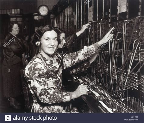 Switchboard Search Switchboard 1930s Stock Photo Royalty Free Image 6081336 Alamy