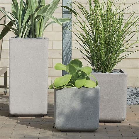 crate and barrel planters square planters crate and barrel