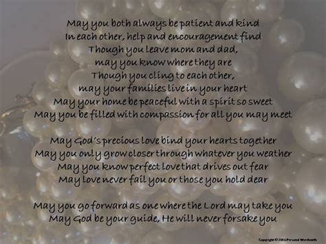 Wedding Blessing By Parents by Wedding Blessing Digital Print Of Poem