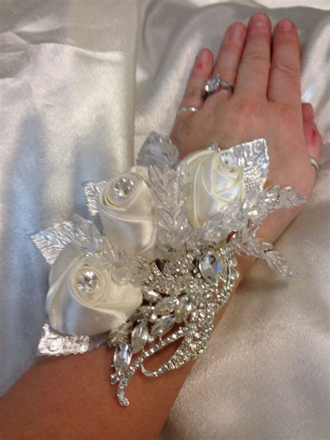 are corsages in style vintage style satin rose crystal wrist corsage ebay