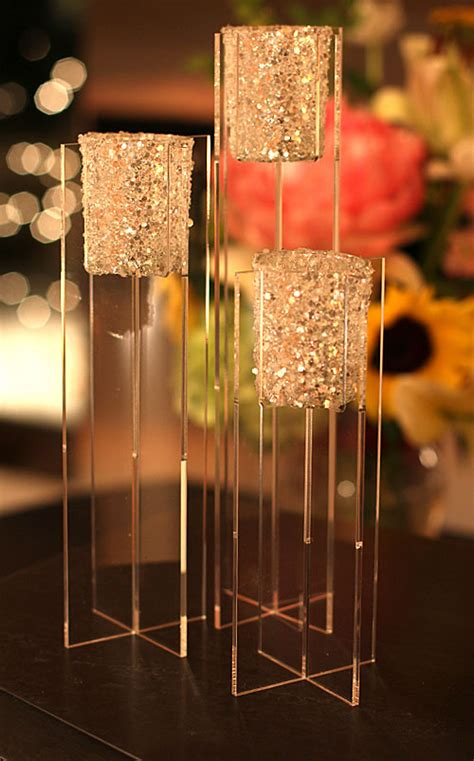 votive candle centerpieces centerpiece risers plastic 28 images silver beaded centerpiece display 29 quot with