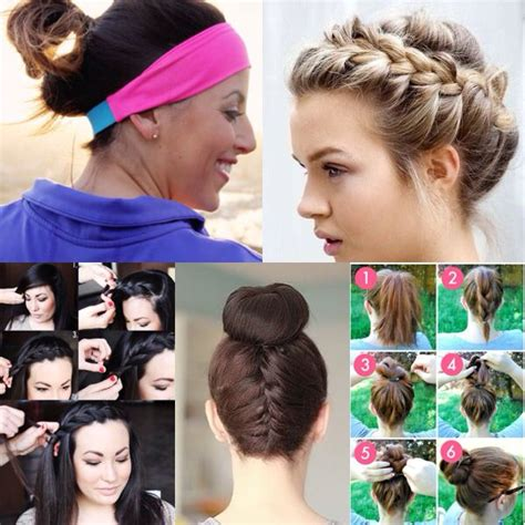 cute hairstyles work visor cute hair styles for working out working out pinterest