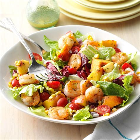 salad recipes shrimp nectarine salad recipe taste of home