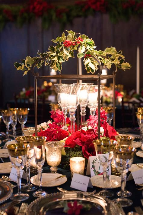 reception d 233 cor photos christmas theme wedding