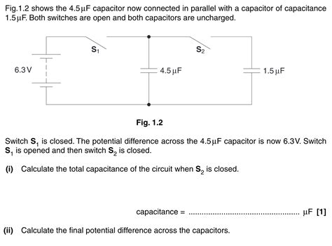 parallel circuits potential difference homework and exercises capacitors in parallel potential difference physics stack exchange