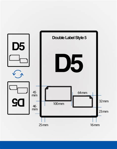 double integrated label d5 cheap integrated labels