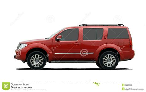 view larger red large suv view royalty free stock photography