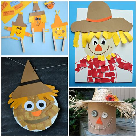 Scarecrow Paper Craft - scarecrow crafts for to make this fall crafty morning