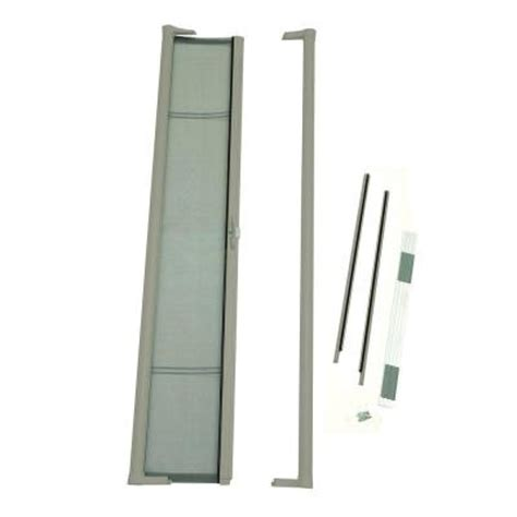 odl 36 in x 80 in brisa sandstone standard height retractable screen door brstae the home depot
