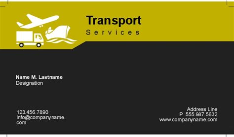 transport business cards templates free transport business cards templates free 28 images 4