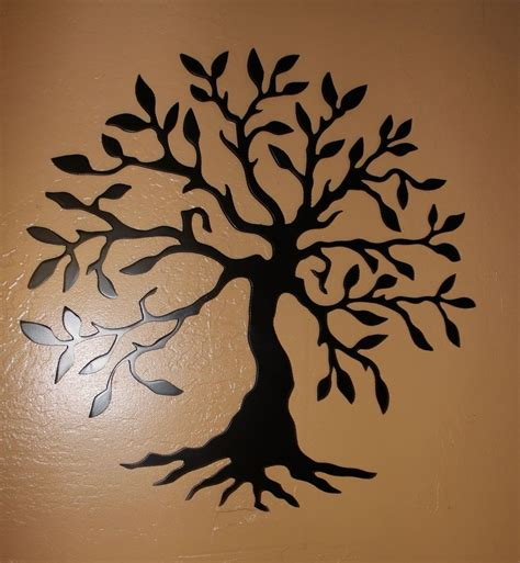 Black Wall Decor by Awesome Black Metal Wall Decor 2 Metal Tree Wall