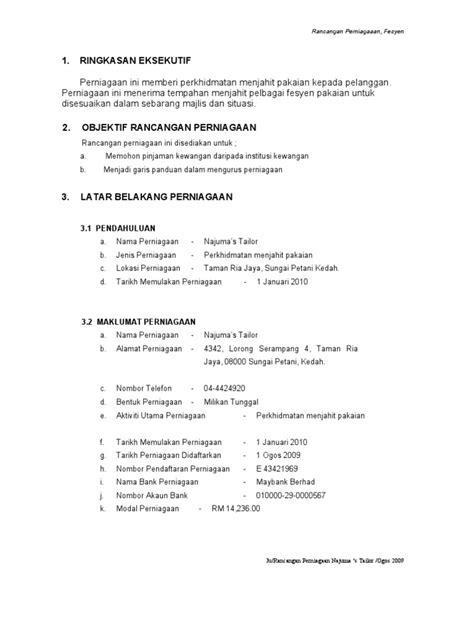 Deli Pembolong Kertas 2 rancangan perniagaan najuma s tailor