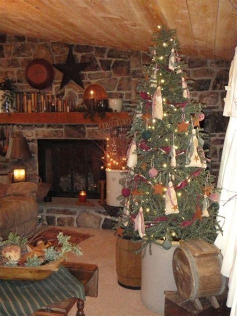 attractive primitive christmas tree decorations ideas