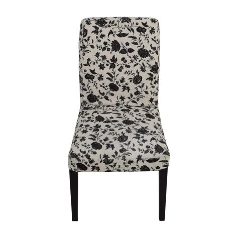 white patterned dining chairs rooms to go second hand on a budget