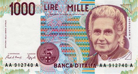valuta banca d italia collezione delle banconote in lire della banca d italia