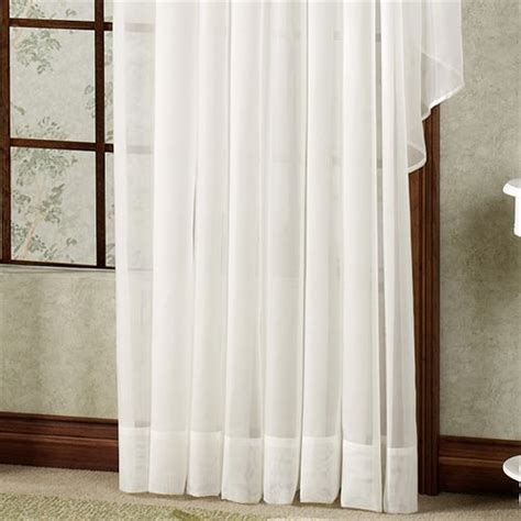 sheer window treatments emelia sheer voile double ascot valance window treatment