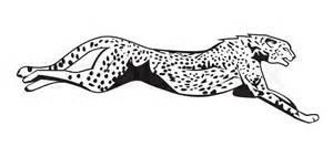 Running Cheetah Outline by Gepard Gepard Stock Vektor