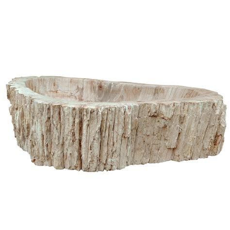 Lavabo In Legno lavabo in legno fossile di legno pezzo unico modello goa