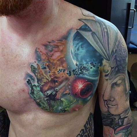 universe tattoo on chest top 100 best cool tattoos for guys masculine designs