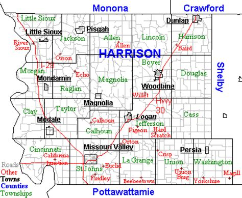 Harrison County Records Harrison County Iowa Map Kansas Map