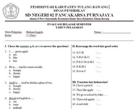 Buku Cermat Cerdas Tematik Buku Evaluasi Soal Tematik Sdmi Kelas Iv Gj 1 soal soal bahasa inggris kelas 5 belajaringgris net
