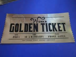 willy wonka golden ticket custom prop replica modern