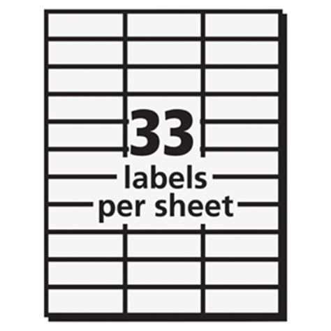 Avery 5311 Clear Professional Mailing Labels Permanent Adhesive 1 Quot Width X 2 13 16 Quot Length Avery Rectangle Labels Template