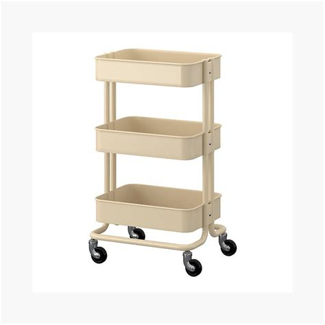 r skog utility cart raskog home kitchen bedroom storage utility cart beige decormoderna