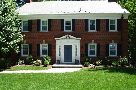 colonial brick homes homes maplewood homes and front doors