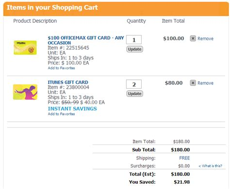 Never Used Itunes Gift Card Codes - gift card savings at officemax frequent miler
