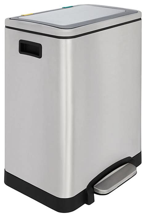 2 section kitchen bin 2 section soft close recycling pedal bin stainless steel