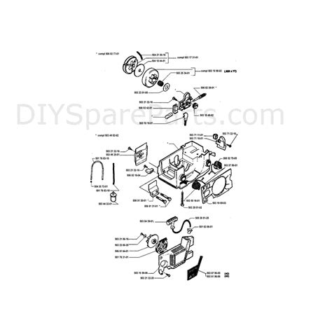 husqvarna chainsaw parts diagram husqvarna 40 chainsaw 1995 parts diagram page 4