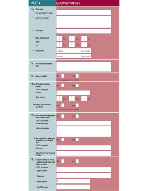 seekers benefits or allowance form free