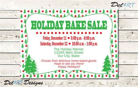 holiday business flyer home party invitation christmas