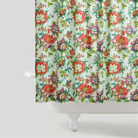 flowered shower curtains victorian floral shower curtain world market