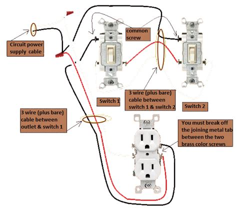 wiring diagram 3 way switch split receptacle gallery