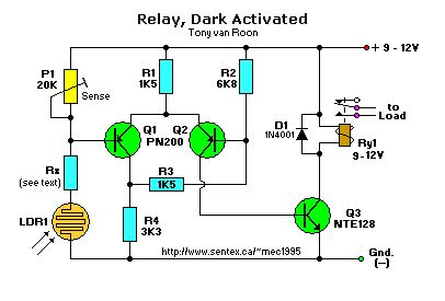 ceiling fan capacitor c22 2no 190 light dependent resistor relay 28 images image gallery ldr circuit transistors 12v led