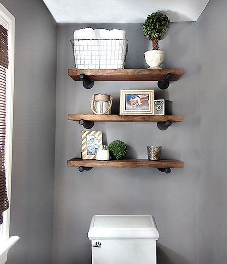 25 best ideas about shelves above toilet on