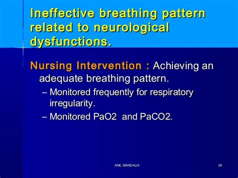 ineffective breathing pattern as evidenced by increased intracranial pressure intra cranial hypertension