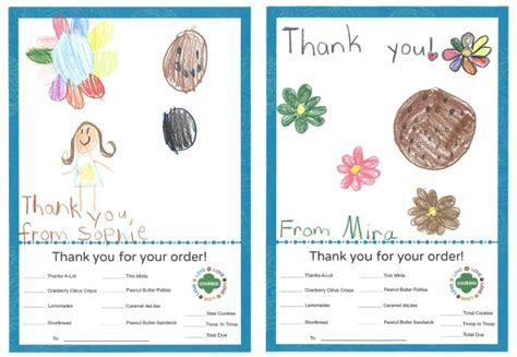 printable thank you cards girl scout cookies girl scout cookies thank you notes free printable