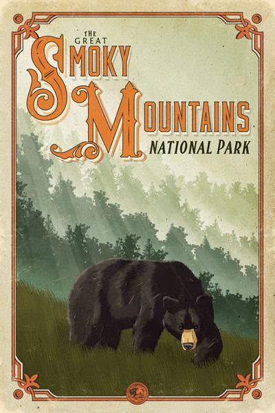 great smoky mountains national park poster hikeanddraw