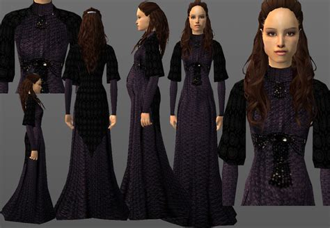 Gamis Syahrini Dress With Shawl 20 mod the sims padme s blue linen dress with and without